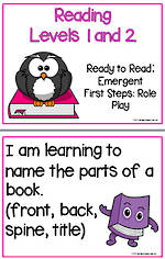 Emergent Reading | Levels 1 and 2 | Learning Goals | Flip Charts
