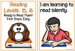 Fluent Reading| Levels 15,16 | Learning Goals |  Flip Charts
