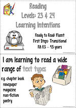 Reading Progressions | R. A. 8.5 years  –  9.5 years Learning Intentions