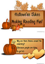 Halloween Jokes | Making Reading Fun! | Charts