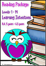 Early Reading | Levels 1-14 | Making Connections | Learning Intentions | R.A. 5 - 6.5 Years | PACKAGE