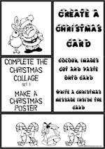 Christmas | Colouring | Collage | Poster | Card Making | Writing Prompt | Set 3