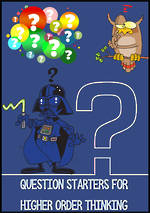 Critical Thinking | Literal - Inferential - Extended Question Starters BUNDLE