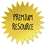 Starburst Badge GOLD- PREMIUM RESOURCE