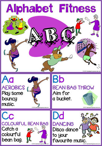 Alphabet | Fitness Activity | Cards