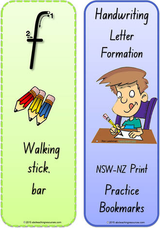 Foundation Handwriting | Terminology | Bookmark | Lowercase Letter | Cards | NSW-NZ Print