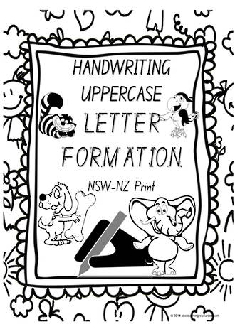 Year 1 Handwriting | Letter Formation | UPPERCASE | Charts | NSW-NZ Print