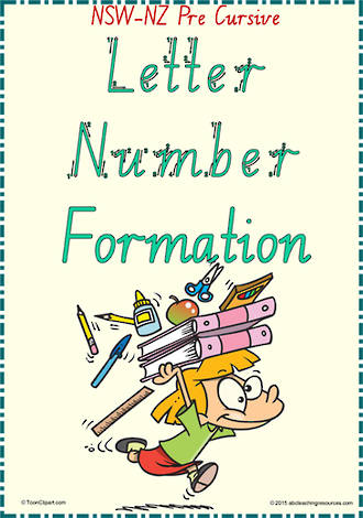 Year 2 | Handwriting | Letter – Number  Formation| Charts | NSW-NZ PreCursive