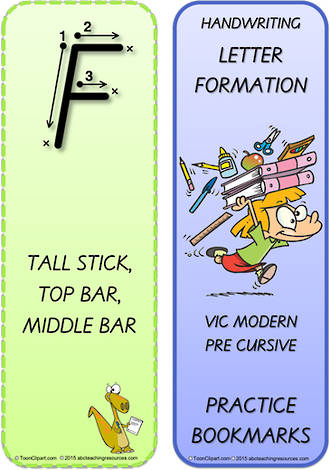 Year 2 Handwriting | Terminology | Bookmark | Uppercase Letter | Cards | VIC Modern PreCursive