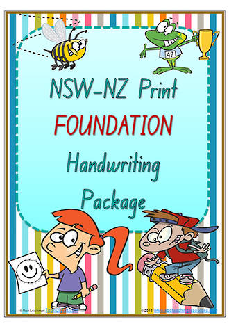 Foundation | Handwriting Programme | PACKAGE | NSW-NZ Print