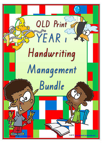 Year 1 | Handwriting | Management | BUNDLE | QLD Print