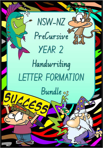Year 2 | Handwriting | Letter Formation | BUNDLE | NSW-NZ PreCursive