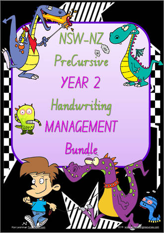 Year 2 | Handwriting | Management | BUNDLE | NSW-NZ  PreCursive