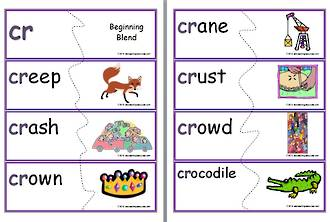 cr-Beginning Blend | Word-Picture | Puzzle