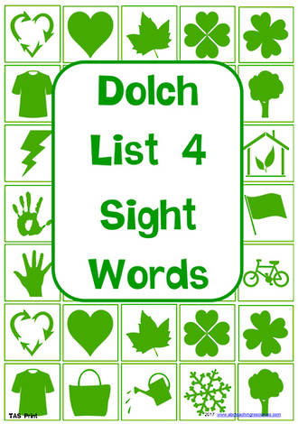 Sight Words |  Dolch Grade 2 | List 4 | Flashcards | TAS Print