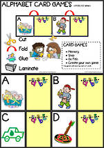 Alphabet Card Games |  Uppercase Letters