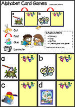 Alphabet Card Games |  Lowercase Letters