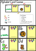Alphabet | Uppercase and Lowercase Letters | Card Games 1