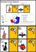 Halloween | Alphabet | Card Games