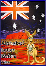 Aussie Alphabet | Letter-Picture | Tile Cards