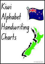 Kiwi | Alphabet | Handwriting | Display Charts