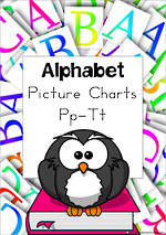 Alphabet | P-T Picture | Charts | Zaner Bloser Style