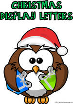 Christmas | Alphabet A-Z | Uppercase | Green | Display  Letters