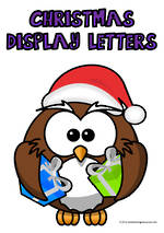 Christmas | Alphabet A-Z | Uppercase | Purple | Display  Letters