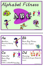 Alphabet | Fitness | Activity Cards