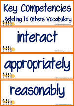 Key Competencies | Relating to Others | Vocabulary | Cards