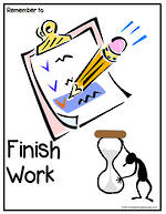 Remember To | Finish Work | Chart