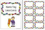 Crayon | Name Tag | Label | Border | Cards