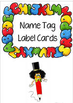Alphabet | Name Tag | Label | Border | Cards
