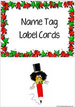 Autumn Leaves | Name Tag | Label | Border | Cards
