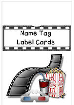 Film | Name Tag | Label | Border | Cards