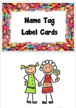 Sweets | Name Tag | Label | Border | Cards