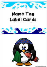 Splash | Name Tag | Label | Border | Cards