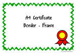 Certificate | A4 | Border | Frame | Cards