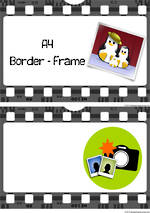 Film | A4 | Border | Frame | Cards