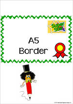 Certificate | A5 | Border | Cards
