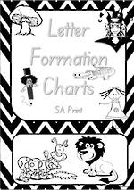 Foundation Handwriting | Letter Formation | Black and White | Charts | SA Print