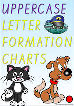 Foundation Handwriting |  Letter Formation | UPPERCASE |  Charts | VIC Print
