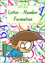 Foundation Handwriting | Formation | Letter – Number | Charts | QLD Print