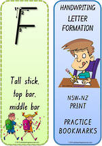 Foundation Handwriting | Terminology | Bookmark | Uppercase Letter | Cards | NSW-NZ Print