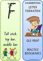Foundation Handwriting | Terminology | Bookmark | Uppercase Letters | QLD Print