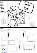 Foundation Handwriting | Practice | Shape | Black and White | Charts | NSW-NZ Print