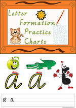 Foundation Handwriting | Practice | Letter Formation | Colour Charts | VIC Modern PreCursive