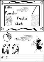 Foundation Handwriting | Practice | Letter Formation | Black and White | Charts | NSW-NZ Print