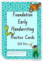 Foundation Handwriting | Practice | Lowercase - Uppercase Letter | Cards | QLD Print