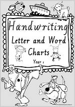 Year 1 Handwriting | Letter Formation | Letter - Word | Colouring Pages | VIC Modern PreCursive